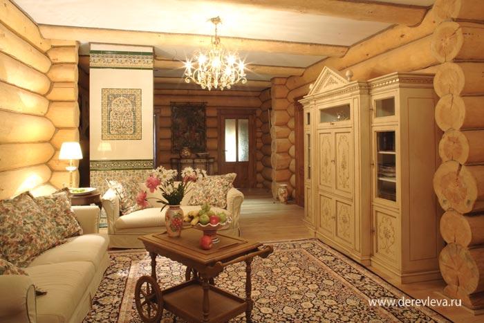 Интерьер загородного дома в русском стиле фото